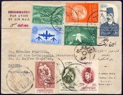EGYPT - AIRMAIL - AIR FORCE In Pair + WRITENS In Pair ++  -1957 - Airmail