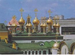 MOSCOU   THE CUPOLAS OF VERKHOSPASSKY CATHEDRAL - Monde