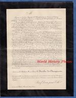 Document De 1901 - RENNES ( Ille Et Vilaine ) - Mademoiselle Adelaïde Marie Louise LE BESCHU De CHAMPSAVIN - Documents Historiques