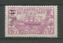 CALEDONIE 1924 N° 136 * Neuf MH Trace De Charnière TTB Cote 3 € Bateaux Voiliers Sailboats Transports Fruits - Nouvelle-Calédonie