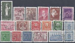 Schweden Mix Set Stamps Of Sweden Suède Suecia Svezia Zweden Small Selection Of Fine Used 1079 - Schweden