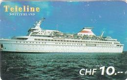 SWITZERLAND - Cruise Ship, Teleline Prepaid Card Fr.10, Used - Schweiz