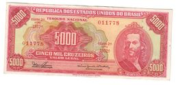Brazil 5000 Cruzeiros 1965 XF - Brazil