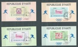 Haiti Olympiques - 4 Blocs Feuillets , Yvert N° 26 à 27 A ** Les 4 Superbes - Po574 - Haiti