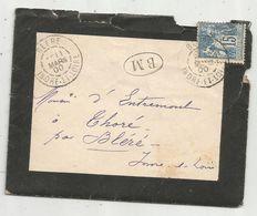 Lettre,1900 ,  BLERE ,  Indre Et Loire , B M - Marcophilie (Lettres)