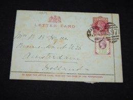 UK 1892 Crayford Stationery Card To Netherlands__(L-12274) - Luftpost & Aerogramme