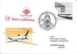 Luftpost Deutschland Lufthansa  Cirrus Airlines   2002 Leipzig - Covers & Documents