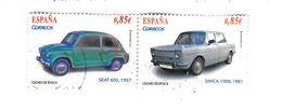 2 TIMBRES - 0,85€ - SEAT 600 1957 Et SIMCA 1000 1961 - (p22) - 2011-... Oblitérés
