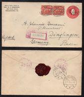 PHILADELPHIA - PA - USA / 1928 ENTIER POSTAL RECOMMANDE POUR L ALLEMAGNE - DINGLINGEN (ref LE2074) - Storia Postale