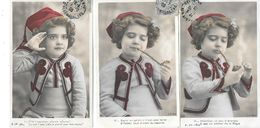 3 Cartes ENFANTS En UNIFORME De ZOUAVE FUMANT LA PIPE  Editeur A.N. Paris N° III - IV Et V - Thème TABAC /MILITARIA 1905 - Portretten