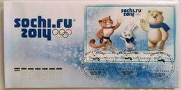 1682 Russia 2012. XXII Olympic Winter Games In Sochi 2014. Mascots. FDC Sochi Postmark - 1992-.... Federazione