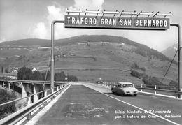 """07419 """"(AO) INIZIO VIADOTTO DELL'AUTOSTR. PER IL TRAF. DEL G.S.BERNARDO""""  AUTO, VERA FOTO, S.A.C.A.T.3848. CART NON SPED - Italia"""