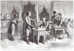 Gravure 1867  TURQUIE LE CAFE TURC Turkish Coffee - Non Classés