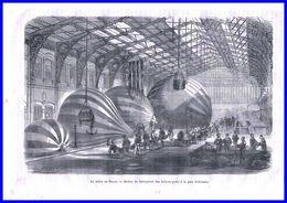 Gravure-histoire De La Revolution-1870-71-ballons Poste - Estampes & Gravures