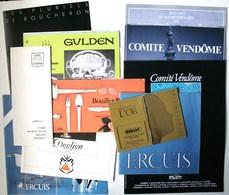 Lot 11 Catalogues Publicitaires Orfèvrerie DEETJEN  ERCUIS  BOUCHERON GULDEN BOUILLET BOURDELLE Années 70-80  /TB/P15 - Publicités