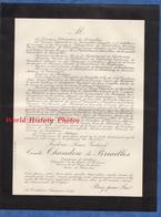 Document Ancien - CHAOURCE , La Cordelière - Frédéric Louis Gabriel Comte De CHANDON De BRIAILLES , Maire De Chaource - Documents Historiques