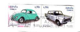 2 TIMBRES De 0,90€ - Wplkswagen Coccinelle 1928 Et SEAT 1500 1963  -'p22) - 2011-... Oblitérés