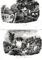 Vue Prise à VAUGIRARD - Vue Prise à MONTMARTRE  (75)  - 2 Gravures 19° - Documents Historiques