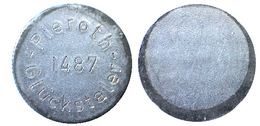 03164 GETTONE JETON TOKEN ADVERTISING GAMING PIEROTH 1487 GLUCKSTALER - Allemagne