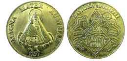 03144 GETTONE JETON TOKEN AUSTRIA ADVERTISING COMMEMORATIVE MAGNA MATER AUSTRIAE BASILIKA MARIAZELL - Tokens & Medals
