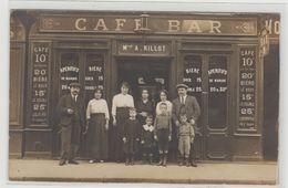 "1 Carte Photo à Identifier ?? "" Café Bar Maison A. Rillot "" - A Identifier"