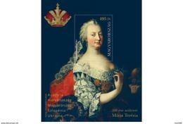 Hungary - 2017 - 300th Anniversary Of Maria Theresa Birth - Mint Souvenir Sheet - Unused Stamps