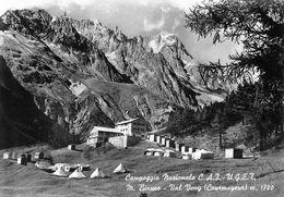 "07425 ""(AO) CAMPEGGIO NAZ, C.A.I.- U.G.E.T - M.BIANCO VAL VENY-COURMAYEUR M 1700"" VERA FOTO, S.A.C.A.T.  CART NON SPED - Italia"