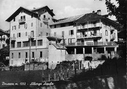 """07426 """"(AO) BRUSSON M. 1332 - ALBERGO AQUILA"""" VERA FOTO, S.A.C.A.T.  CART NON SPED - Italia"""