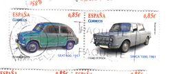 2 TIMBRES 0,85 € - SEAT 600 1957 Et SIMCA 10001 961 (p22) - 2011-... Oblitérés