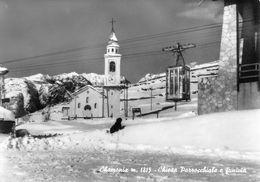 """07427 """"(AO) CHAMONIX M. 1815 - CHIESA PAROCCHIALE E FUNIVIA"""" VERA FOTO, S.A.C.A.T.  CART NON SPED - Italia"""