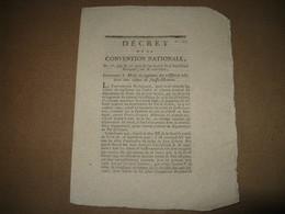 DECRET CONVENTION NATIONALE MODE JUGEMENT CRIME DE FAUSSE MONNAIE 1793 REVOLUTION JUSTICE - ...-1889 Circulated During XIXth