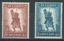 BELGIQUE - 1932 - NO GUM (*) - POUR LA GLOIRE DE L'INFANTERIE  - COB 351-352 - Lot 16239 - Belgium