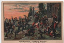 Militaria/Guerre De 1870/Image Pédagogique/Bataille De Saint PrivatDessinateur Germain/Vers 1900 IMA269 - Trade Cards