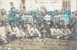 Cpp 25 BESANCON A La Caserne Portrait De Clovis NEVEU Militaire Au 4è Cie Ouvrier Regiment D'artillerie Et Ses Camarades - Besancon