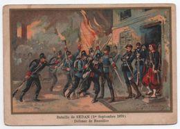Militaria/Guerre De 1870/Image Pédagogique/Bataille De SEDAN/ Bazeilles/Dessinateur Germain/Vers 1900 IMA271 - Cromos