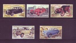 Malta 2003 - Auto D'Epoca, 5v Usati Con Annullo Rotondo. Serie Completa - Malta