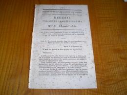 Mâcon 1832:Marché Lucenay (71).Registres état Civil.Remplacement Garde Nationale.Règlement Sur Les Sépultures,églises,ca - Documents Historiques
