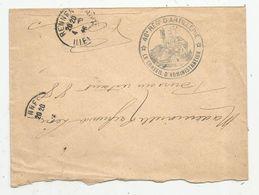 Lettre , RENNES , 1915 ,  46 E REGt. D'ARTILLERIE ,le Conseil D'administration , PARIS 88 ,  Bd ST MARTIN, 3 Scans - Storia Postale