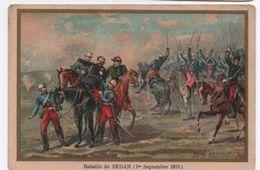 Militaria/Guerre De 1870/Image Pédagogique/Bataille De SEDAN/ Illy /Dessinateur Germain/Vers 1900 IMA272 - Cromos