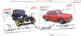 2 TIMBRES 0.85€ - CITREN C 1934 EtRENAULT DAUPHINE1956 (p22) - 2011-... Usati