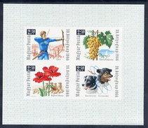 HUNGARY 1966 Stamp Day Imperforate Block MNH / **.  Michel Block 55B - Blocks & Sheetlets