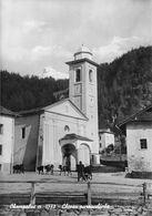 """07432 """"(AO) CHAMPOLUC M. 1570 - CHIESA PARROCCHIALE"""" ANIMATA, MUCCHE, VERA FOTO, S.A.C.A.T.2220. CART NON SPED - Italia"""