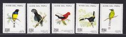 PEROU AERIENS N°  315 à 319 ** MNH Neufs Sans Charnière, TB (D5054) Oiseaux - Peru