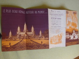 Dépliant-programme Illustré  EXPOSITION COLONIALE De PARIS ,1931-Plan,dirigeants Lyautey,Olivier /Pavillons Des Nations. - Tourism Brochures