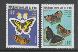 PAIRE NEUVE DU BENIN - PAPILLONS N° Y&T 644/645 - Papillons