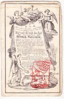 DP Diaconaat - Petrus Paelinck 26j. ° Lokeren 1824 † 1851 / Seminarie Gent / Litho Hemelsoet - Images Religieuses