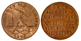 03689 GETTONE JETON TOKEN AUSTRIA GOOD LUCK TOKEN PROSIT NEUJAHRE 1976 - Tokens & Medals