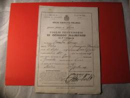 FOLGIO PROVVISORIO DI CONGEDO ILLIMITATO REGIO ESERCITO ITALIANO 1911 - Documenti