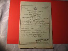 FOLGIO PROVVISORIO DI CONGEDO ILLIMITATO REGIO ESERCITO ITALIANO 1911 - Dokumente