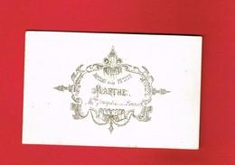 1 Faire-part >  Baptême ... MARTHE ... 1881 ... - Naissance & Baptême